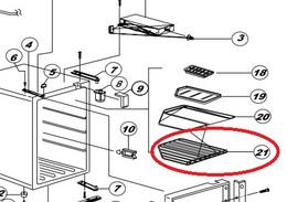 Norcold Lower Wire Shelf 523003500 (fits many DE/ DC models)