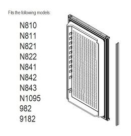 Norcold Lower Door 619631 panel door (fits N811, N821, N841, N1095, 982, 9182) waffle interior