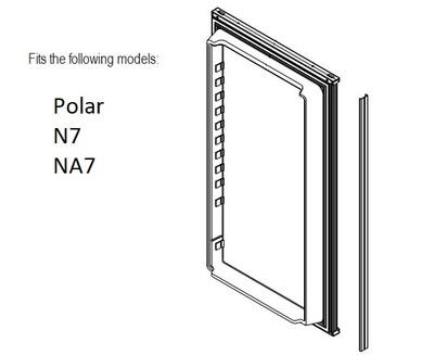 Norcold Lower Door 638532 panel door (fits the N7/ NA7)