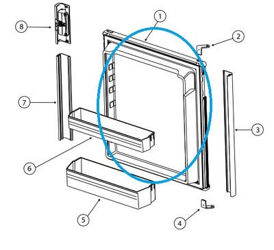 Norcold Refrigerator Door 621669 (fits the DE0041)