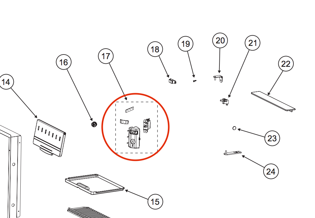 refrigerator thermostat control assembly