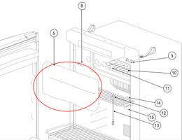 Norcold Freezer Door 636864 (fits the N3104)