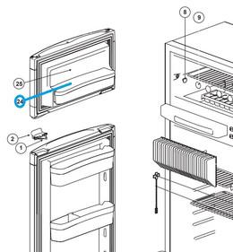 Norcold Freezer Door Bin 69082312  (fits the N3104)