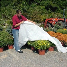 Don't lose your plants to an early frost. Use this large Dewitt 2.5 oz Thermal Blanket Frost Cover, covering 12-foot x 250-foot.