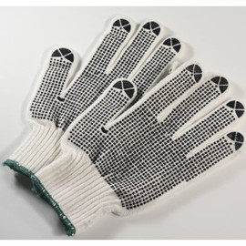 Get a good grip every time when you use these String Knit Nylon Gloves with Dots from FGS.