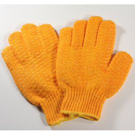 Offering excellent cut protection, these FGS String Knit Honeycomb Grip Gloves are used by farmers, pickers, and gardeners alike.