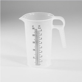 When you need the perfect pour every time, use this 8-ounce Accu-Pour Chemical Measuring Container (250 ml, #PM80008)