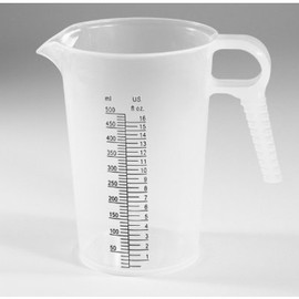 Have individual chemical measuring contains for ever chemical you have, This 16-ounce (500ml) from Accu-Pour gets you an exact measurement every time.