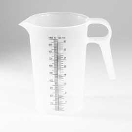 Measure exactly every time when you use this 32 ounce (1 liter) Accu-Pour Chemical Measuring Container (#PM80032)