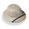 Protect yourself from falling fruit and branches and look good while you do it with this hardshell safari pith helmet in khaki. (S45K)