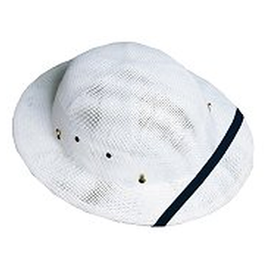 Save yourself from the sun and look good while you do it with this safari straw pith helmet (In white, S451W)