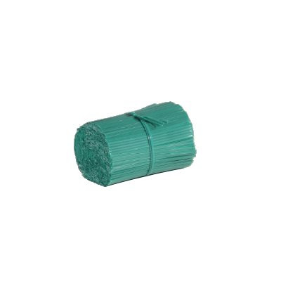 4-Inch Plastic Coated Wire Twist Ties-Box of 2000