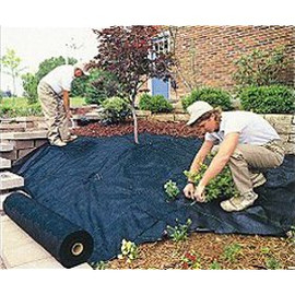 When you use weed fabric, you're stopping the weeds from starting in the first place.