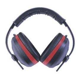If you're using power equipment, you need ear protection. Use these Elvex MaxiMuff 28 dB high-performance ear muffs #HB-35 every day.