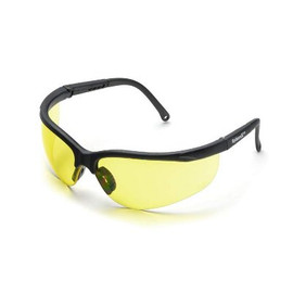 Stay safe while working in a hazardous environment with these amber Elvex Sphere-X Safety Glasses.