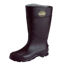 If you're walking through pesticide-sprayed grass, you don't want to take it home with you. Use these Servus CT 16-Inch Plain Toe Black PVC Boots.