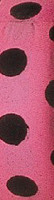Fluorescent black and pink polka dot flagging tape, good for all weather.