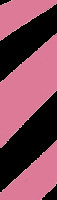 Black and pink fluorescent black and pink striped flagging tape from Presco.
