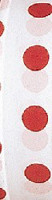 White and red polka dot flagging tape that's great for all seasons.