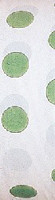 All weather green and white polka dot flagging tape from Presco.