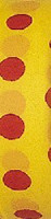 Yellow and red polka dot flagging tape from Presco, good for all weather.