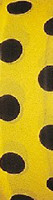 Black and yellow polka-dot flagging tape from Presco.