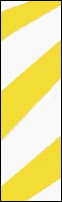 Yellow and white striped flagging tape from Presco.