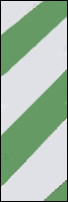 White and green striped flagging tape for marking trees and plants.