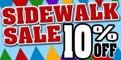 Sidewalk Sale 10% Off banner