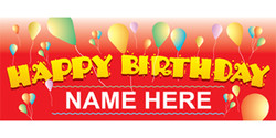 Happy Birthday Name Here with balloons