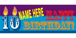 Happy Birthday with candles banner