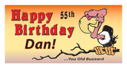 Happy Birthday with an old buzzard banner