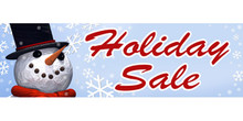 Holiday Sale with snowman banner