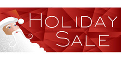Holiday Sale contemporary Santa banner