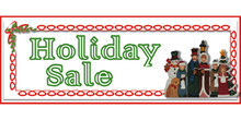 Holiday Sale Victorian caroller family banner