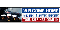 Welcome Home Your Text Here Naval Salute banner