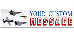 Your Custom Message with 4 different planes banner