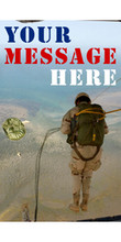 Your Message Here with paratrooper jumping banner