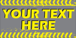 Your Text Here gray background banner