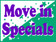 Move In Specials - purple, white and green coroplast sign