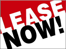 Lease Now coroplast sign