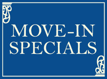 Move-In Specials coroplast sign