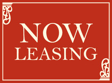 Now Leasing coroplast sign