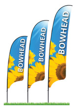 3 different sizes of available Bowhead Flag