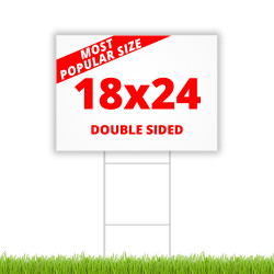 "18"" x 24"" double sided coroplast yard sign"