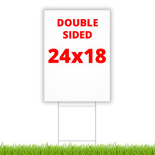 """24"""" x 18"""" double sided coroplast yard sign"""