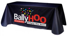 Tradeshow table throw with logo