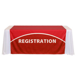 "60"" tradeshow table runner with logo"