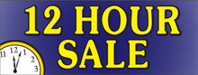 12hr Hour Sale with clock banner