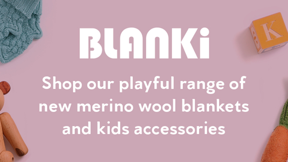 shop our playful range of new merino wool blankets and kids accessories